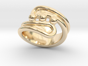 Threebubblesring 14 - Italian Size 14 in 14K Yellow Gold