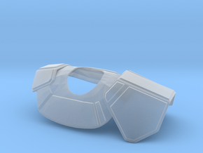 Clone Commander Pauldron for 6 inch in Smooth Fine Detail Plastic