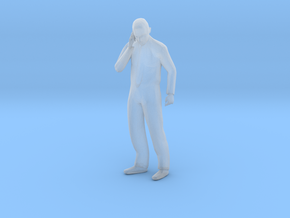S Scale Man Talking on the phone in Smooth Fine Detail Plastic