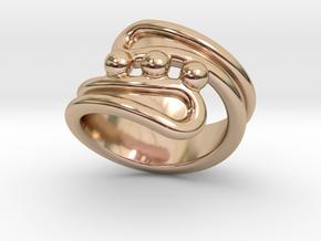 Threebubblesring 14 - Italian Size 14 in 14k Rose Gold Plated Brass