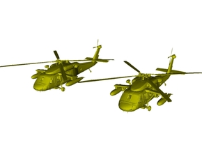 1/200 scale Sikorsky UH-60 Black Hawk x 2 in White Natural Versatile Plastic