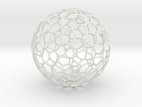 "Gigantic ""irregular"" polyhedron in White Natural Versatile Plastic"