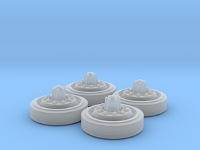 M48 Patton Inner Wheel Set in Smooth Fine Detail Plastic