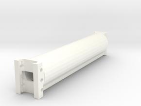 Incognito Minimalist Shoulder Pad 170mm Extension in White Processed Versatile Plastic