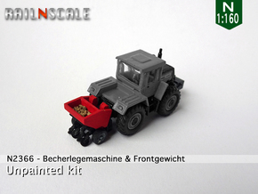 Becherlegemaschine und Frontgewicht (N 1:160) in Smooth Fine Detail Plastic
