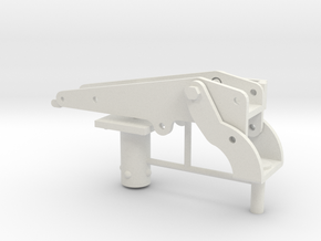 1/6 Scale 30cal Vehicle Mount in White Natural Versatile Plastic