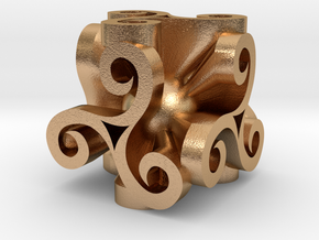 Triskell Cube With Rope Ring in Natural Bronze