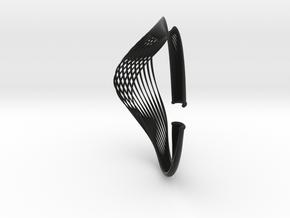 Vital Necklace - Kukla collection in Black Natural Versatile Plastic