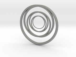 Linked Circle1 in Gray Professional Plastic