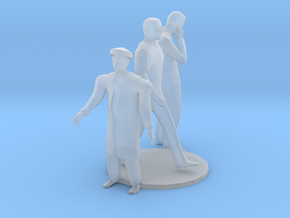 S Scale standing Men in Smooth Fine Detail Plastic