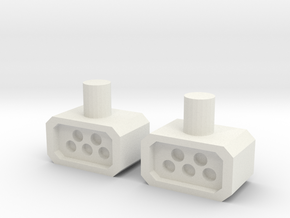 TF missile pods 2 in White Natural Versatile Plastic