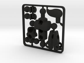 Moli (female) Modifier Kit for ModiBot Mo in Black Premium Versatile Plastic