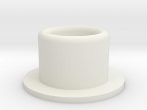 Debgar Round Greeblie 2 in White Natural Versatile Plastic