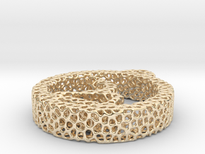 1am_voronoi yoga in 14k Gold Plated Brass