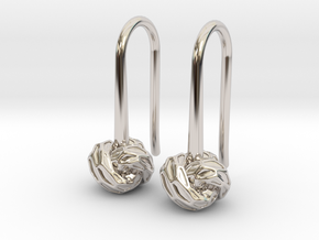 D-STRUCTURA S Earrings.   in Platinum