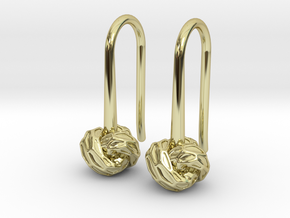 D-STRUCTURA S Earrings.   in 18k Gold Plated Brass