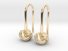 D-STRUCTURA S Earrings.   in 14K Yellow Gold
