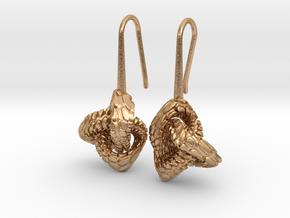 Love Atom Earrings in Natural Bronze