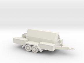 1/144 Scale Compressor Trailer in White Natural Versatile Plastic