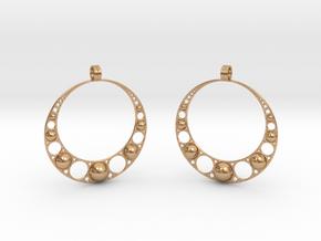 Apol. Earrings in Polished Bronze