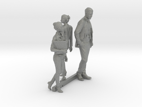 S Scale Standing People 9 in Gray PA12