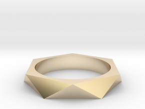 Shifted Hexagon 14.05mm in 14K Yellow Gold