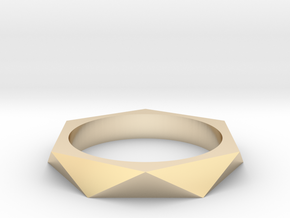 Shifted Hexagon 15.70mm in 14K Yellow Gold