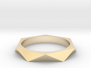 Shifted Hexagon 17.35mm in 14K Yellow Gold