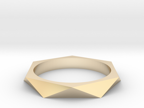 Shifted Hexagon 18.53mm in 14K Yellow Gold