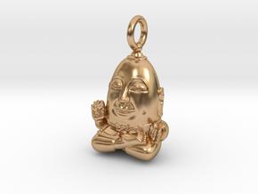 Humpty Dumpty Buddha in Polished Bronze