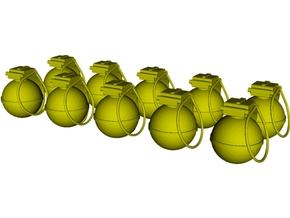 1/15 scale V-40 mini fragmentation grenades x 10 in Smooth Fine Detail Plastic