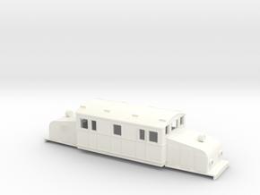 Swedish SJ electric locomotive type Oc- H0-scale in White Processed Versatile Plastic