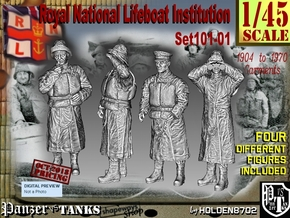 1/45 RNLI Crew Set 101-01 in Smooth Fine Detail Plastic