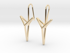 YOUNIVERSAL Straight. Elegant Earrings.  in 14K Yellow Gold