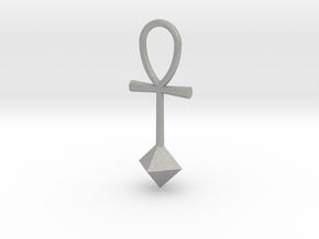 Octahedron energy pendant in Aluminum