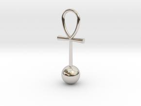Zero Point Energy pendant in Rhodium Plated Brass