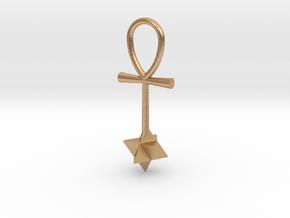 Quantum energy pendant in Natural Bronze