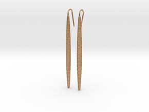 D-STRUCTURA Long. Elegant Earrings in Natural Bronze