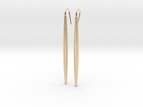D-STRUCTURA Long. Elegant Earrings in 14K Yellow Gold