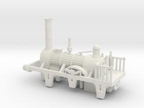 00 Scale 1830s Patentee Loco Scratch Aid in White Natural Versatile Plastic
