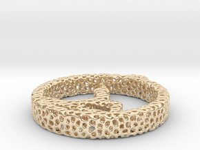 028yoga_voronoi in 14k Gold Plated Brass