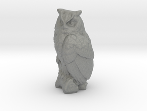 1-35 scale owl 2 in Gray PA12