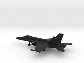 Boeing F/A-18E Super Hornet in Black Natural Versatile Plastic: 1:200