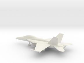 Boeing F/A-18F Super Hornet in White Natural Versatile Plastic: 1:100