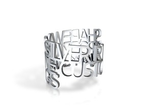 Ring Poem -zilver in Raw Silver