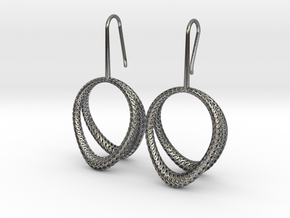 D-STRUCTURA Duo Earrings. Structured Chic in Polished Silver