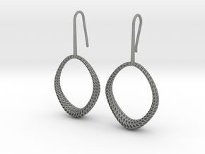 D-STRUCTURA IRIS Earrings. Structured Chic in Gray Professional Plastic