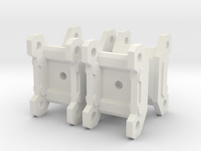 1-87 Scale Crane Grapple Replacement x4 in White Natural Versatile Plastic
