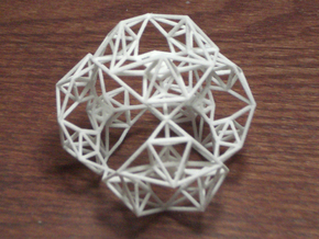 Inversion of a Sierpinski Tetrahedron in White Natural Versatile Plastic