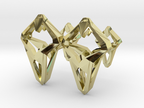 Prototype, Cufflinks. Sharp Chic for Him. in 18K Gold Plated
